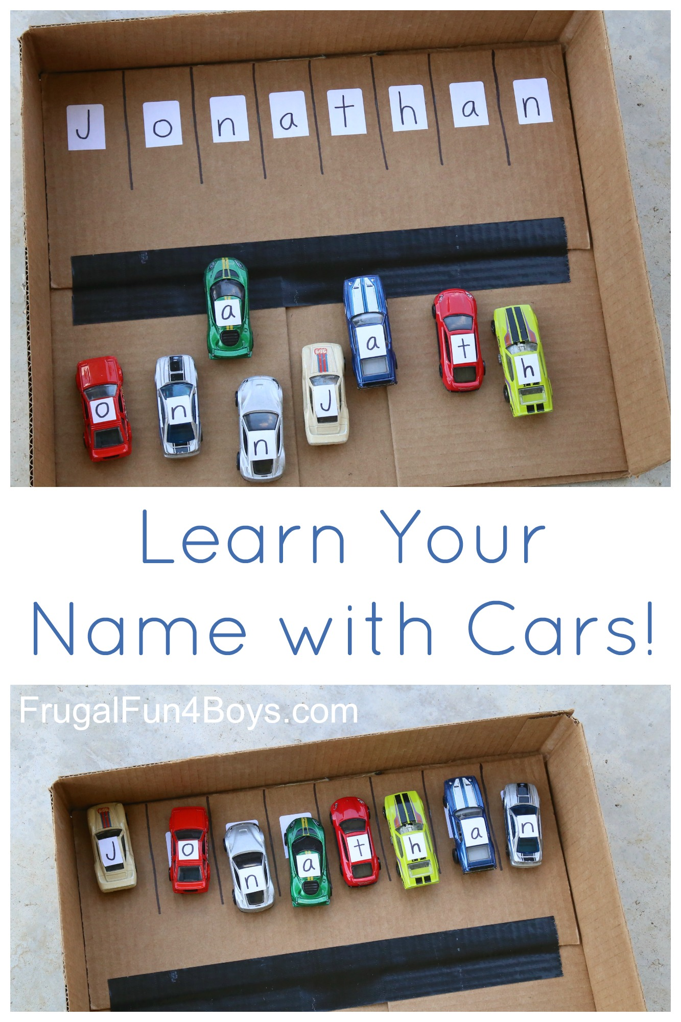 Learn Your Name With Hot Wheels Cars