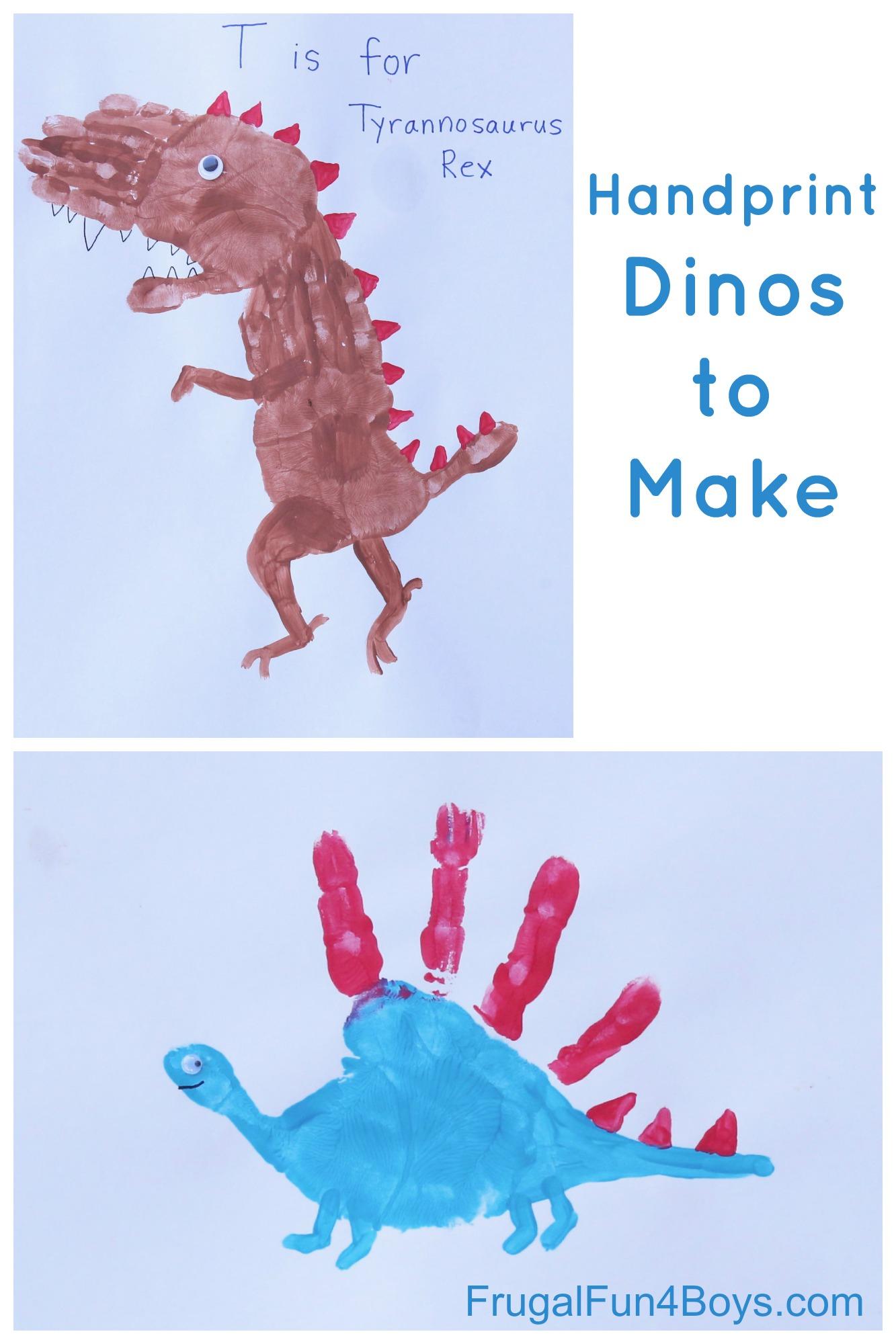 Craft For Kids Handprint Dinosaurs