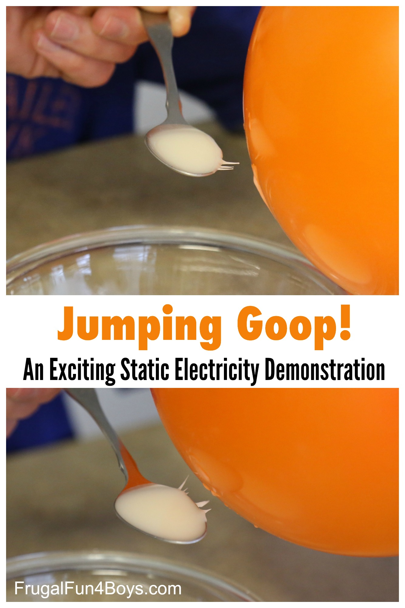 Jumping Goop An Awesome Static Electricity Demonstration