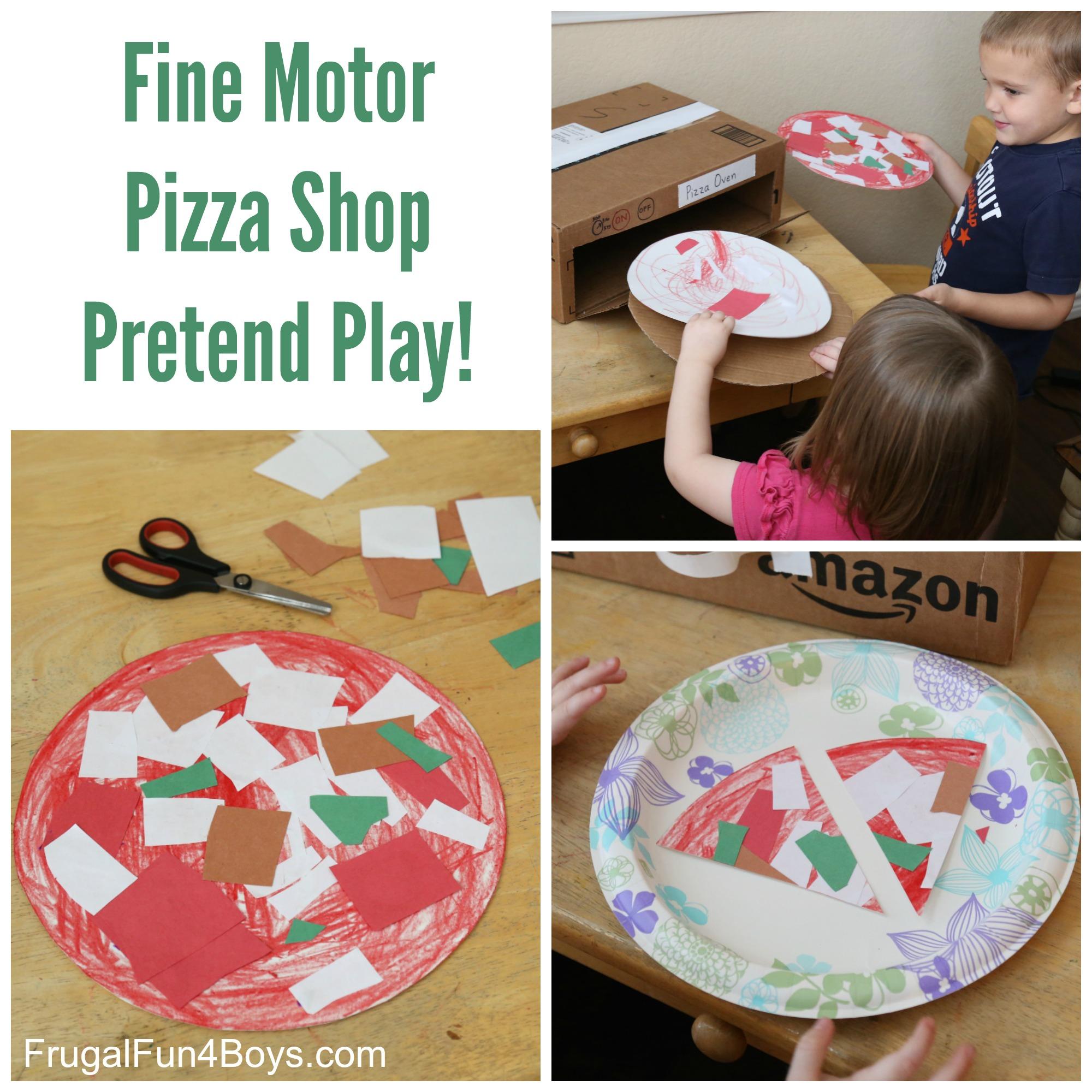 Pizza Shop Fine Motor Activity For Preschoolers