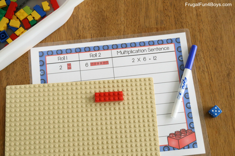 Lego Multiplication Mats Printable Math Activity