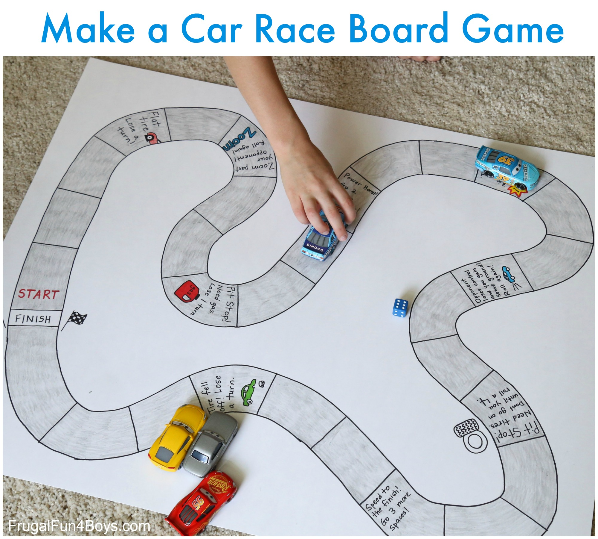 Make Your Own Car Race Board Game