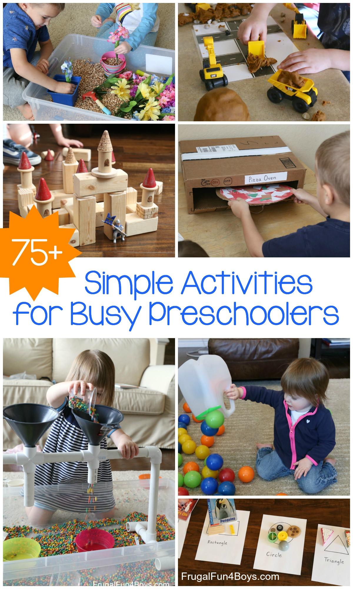 75 Of The Best Simple Activities For Busy Preschoolers