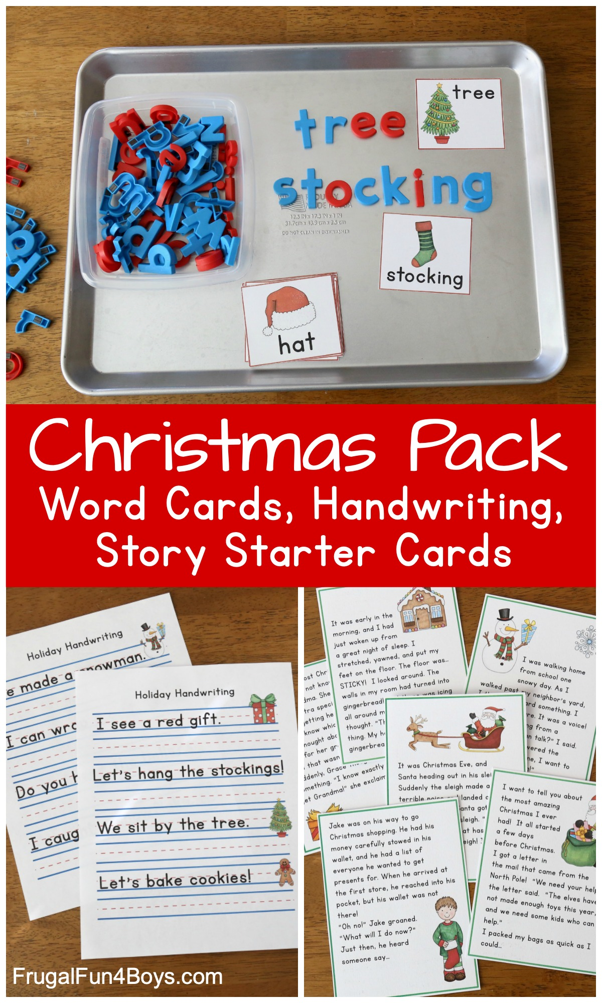 Free Christmas Printable Pack For Kindergarten And First