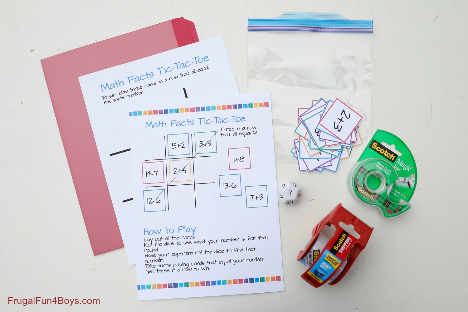 Addition And Subtraction Tic Tac Toe Math Game
