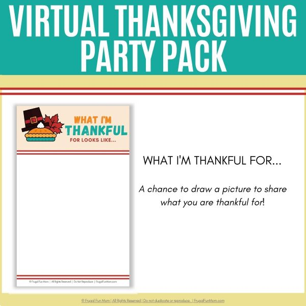Virtual Thanksgiving Party Pack | Frugal Fun Mom