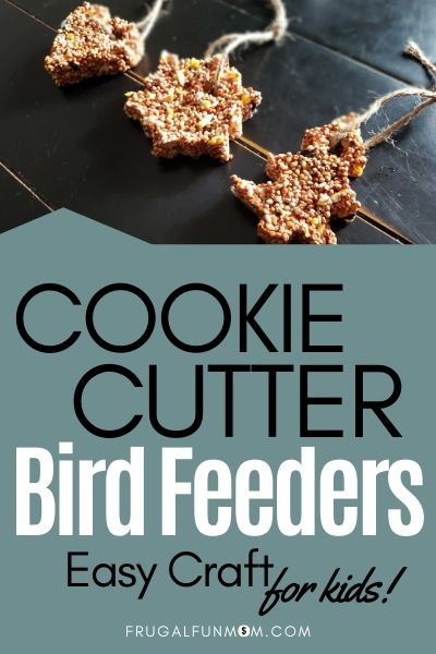 Cookie Cutter Bird Feeders - Easy Craft For Kids | Frugal Fun Mom
