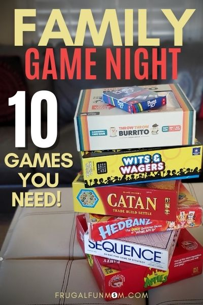 Family Game Night - 10 Games You Need!  | Frugal Fun Mom