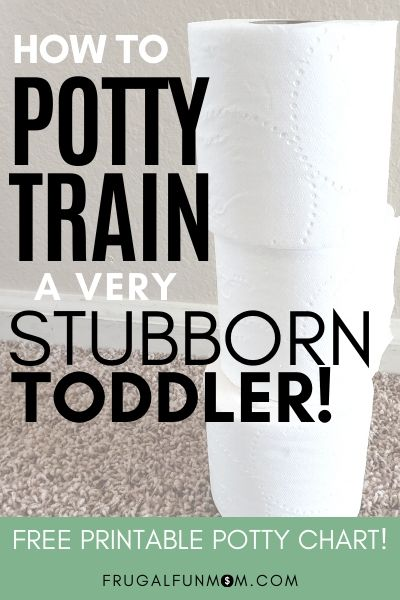How To Potty Train A Subborn Toddler | Frugal Fun Mom