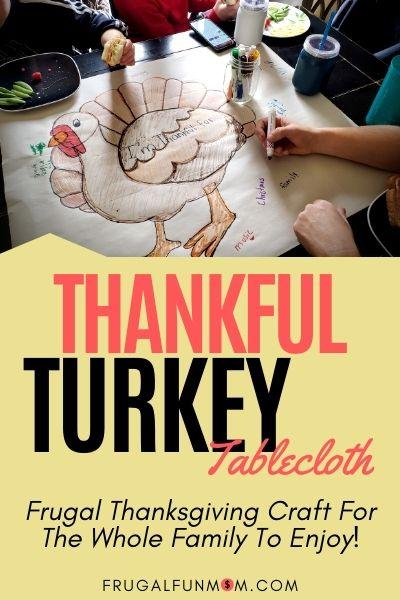 Thankful Turkey Tablecloth | Frugal Fun Mom