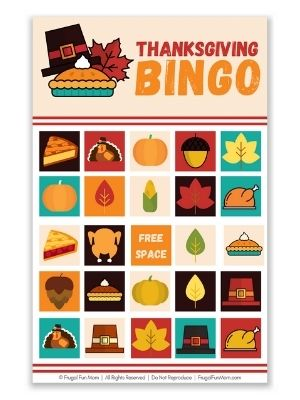 Thanksgiving BINGO | Frugal Fun Mom