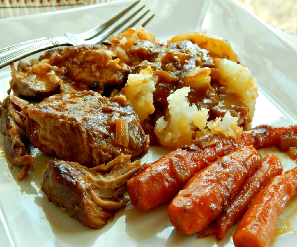 Oven Braised Pork with Root Vegetables