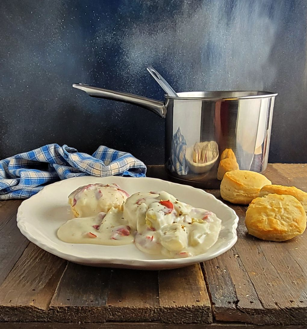 Creamed Chipped Beef & Artichokes