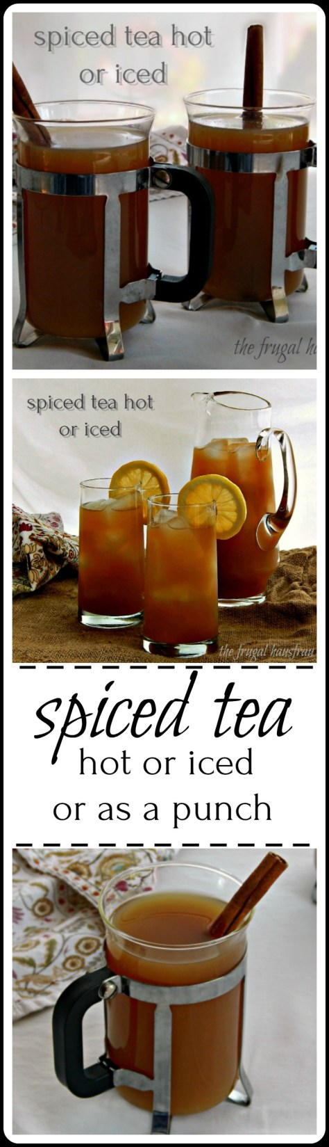 The Best!! Tea mixed with pineapple and pear, apple cider and citrus! Then a touch of cinnamon and clove. Everyone will go nuts over this!