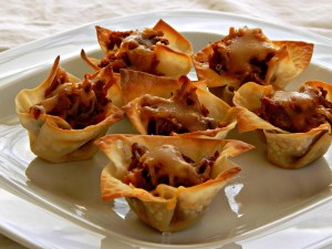 Filled Won Ton Cups