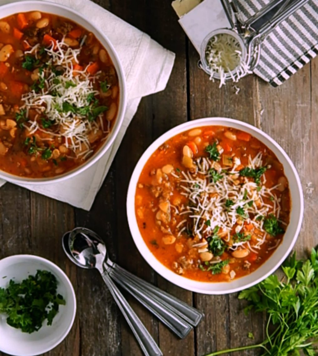 Winter Minestrone with Sausage & Beans