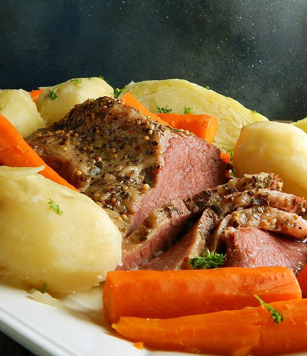 Corned Beef Cabbage Dinner