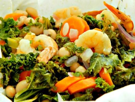Shrimp & Kale Bundles - Unbelievably Good!