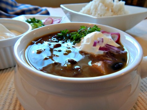 If we'd have had a ham, this Cuban Black Bean Soup would be on the menu today!