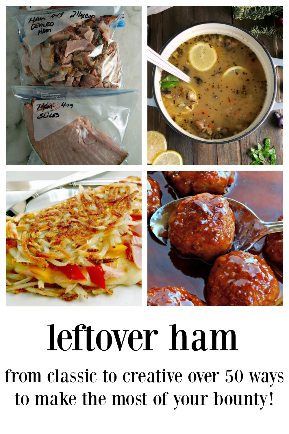 12 Days of Ham - Leftover Ham Recipes. 45 ways to maximize & refashion that leftover ham, each better than the original ham! Because we all need a little inspiration now and then! NO Slideshows!! #LeftoverHam #HamRecipes #RecipesLeftoverHam