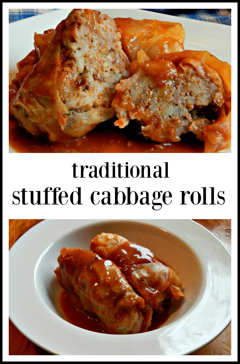 This is the recipe you want, Stuffed Cabbage Rolls with Sweet Sour Sauce! It tastes just like home; made through the Midwest. #StuffedCabbageRolls #TraditionalStuffedCabbageRolls