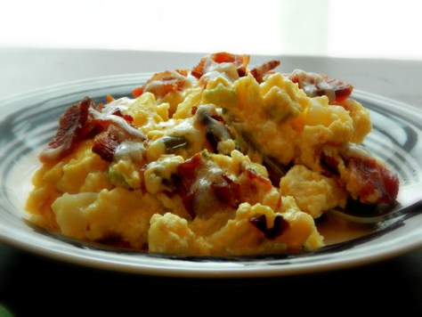Potato Cheese Breakfast Bake with Bacon or Ham