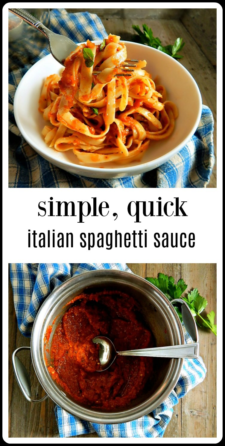 This Simple, Quick Italian Tomato Sauce from Cook's Illustrated is a favorite! So easy and so much fresher tasting than a jarred sauce. #QuickSpaghettiSauce #CooksIllustratedQuickItalinTomatoSauce
