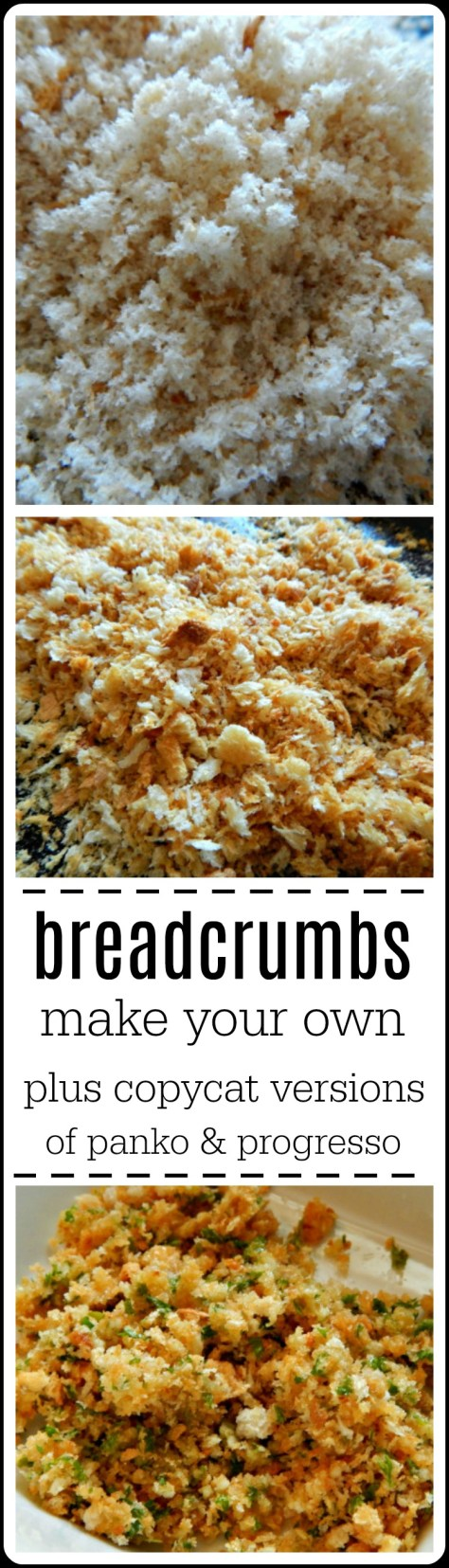 Make breadcrumbs, fresh or toasted, breadcrumb topping for casseroles, plus panko and progressive copycats. Worth a read!