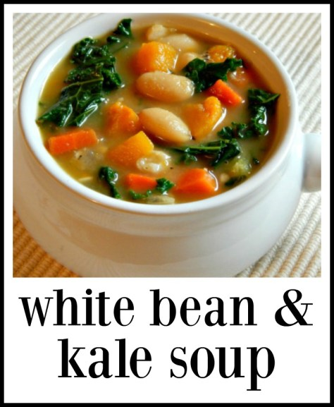 White Bean & Kale Soup - Super healthy & very good!