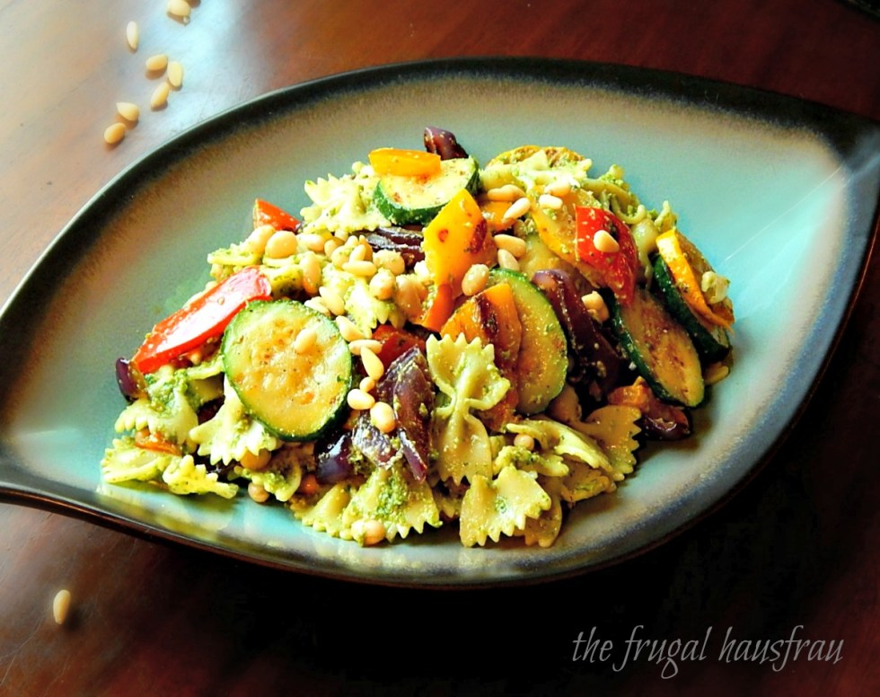 Pesto Pasta Salad Grilled Vegetables