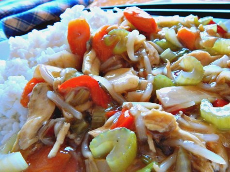 Chicken Chow Mein home made