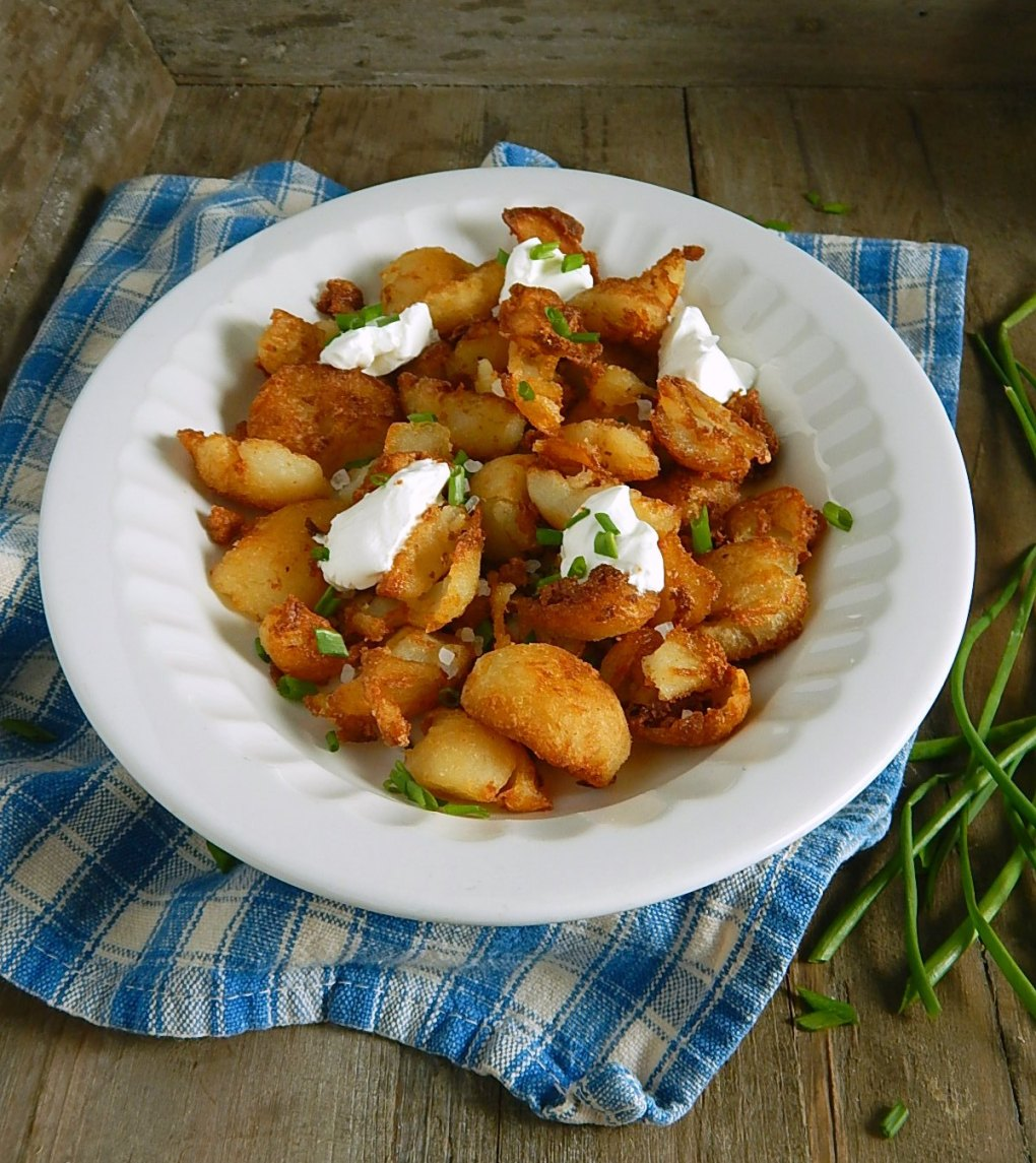 Baked Potato Hash Browns from Leftover Potatoes - so perfectly golden & crispy