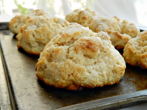 Shortcakes - a cross between a scone and a cream biscuit these are amazing.
