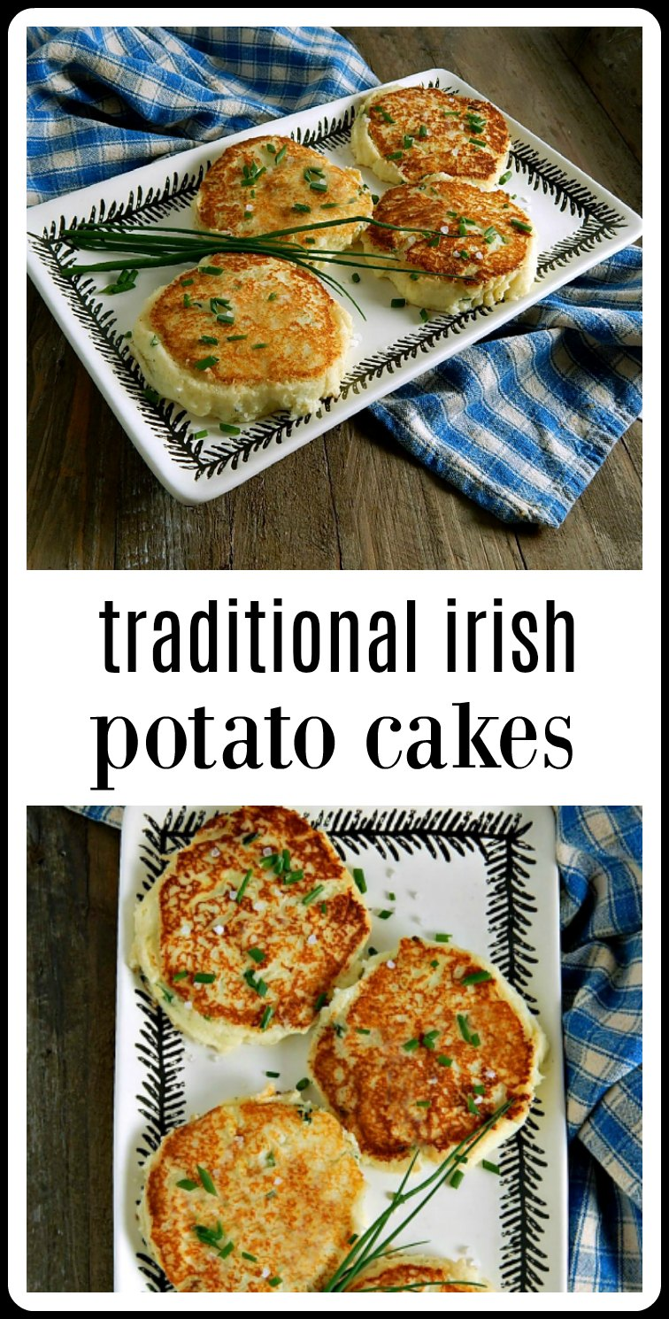 If there is anything better than mashed potatoes, it has to be Traditional Irish Potato Cakes! They're fab! Make them anytime you have leftover potatoes. #IrishPotatoCakes #PotatoCakes #LeftoverPotatoes