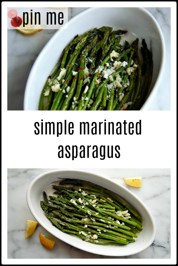 Marinated Asparagus: Asparagus is a sure sign spring is coming - somewhere. And when it's in a bright, lemony marinade like this simple Marinated Asparagus, it says Hello, Spring!! #Spring Asparagus Recipe #Marinated Asparagus #Asparagus