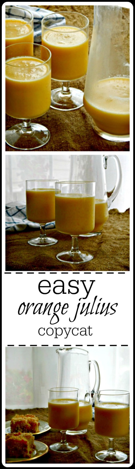 Orange Julius - they're soooo good! Icy orange slushy just like the mall's!