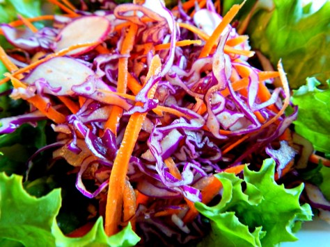 Red Cabbage Slaw with Mexican Flavors, easily modified.