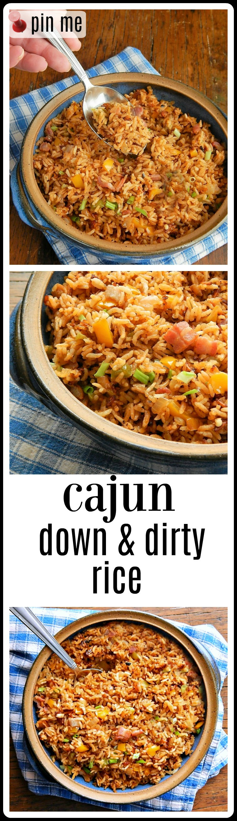 Down & Dirty Cajun Rice is a fresher take on the Cajun dish; this Side Dish is a fantastic pilaf style rice, light and fluffy with a smoky flavor. #Cajun Rice #Dirty Rice