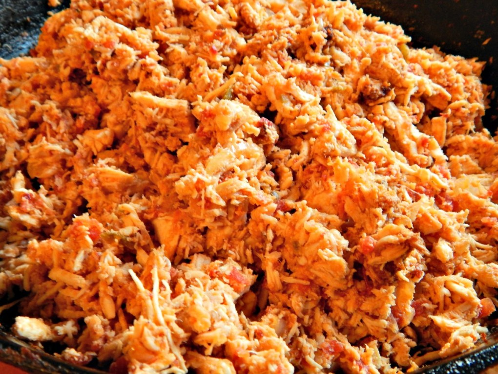 Pueblan Style Shredded Chicken, Tinga de Pollo