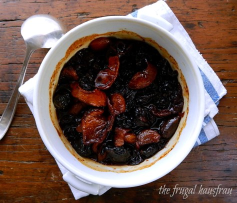 Compote Dried Fruit in Spiced Wine