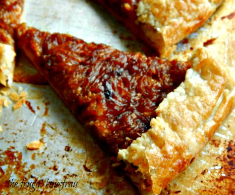 Caramelized Onion Galette - free form tart food & wine