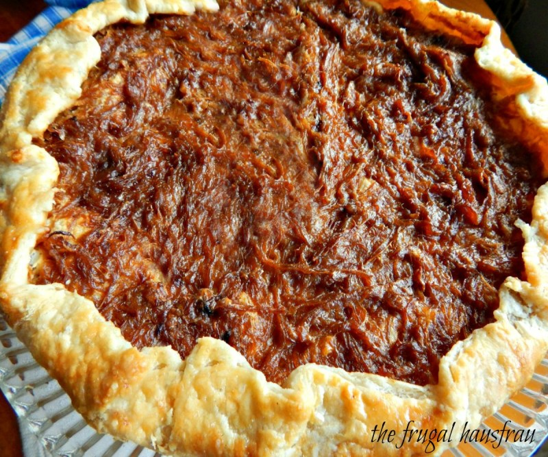 Caramelized Onion Galette - free form tart food & wine