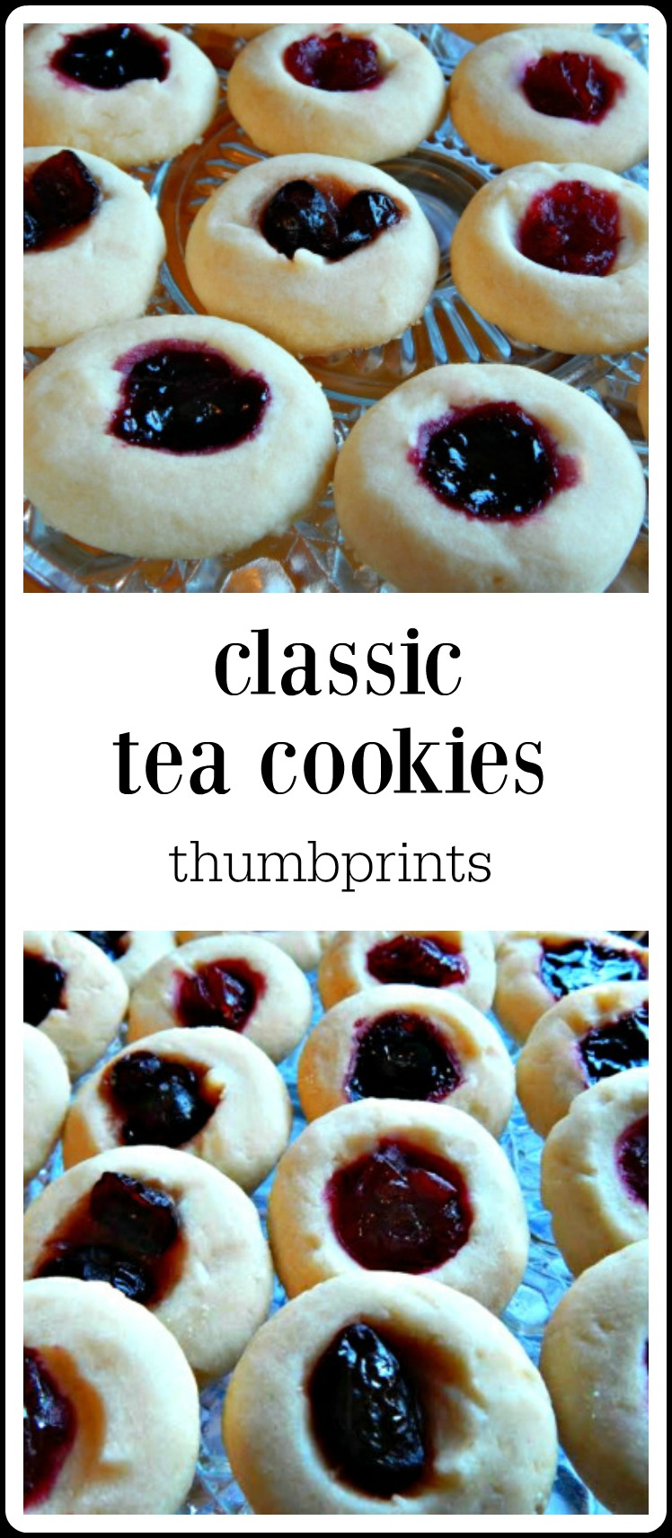 Classic Tea Thumbprint Cookies are such a perfect Holiday cookie! They're easy, festive and customizable and take so little skill (or time) to make! #ClassicTeaCookies #ThumbprintCookies #TeaCookiesThumbprint