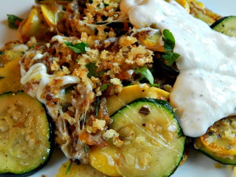Summer Squashes with Herbed Yogurt Sauce