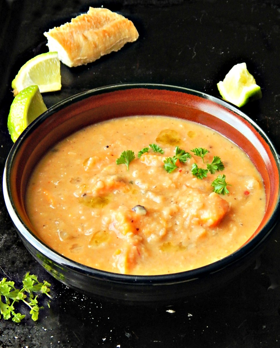 Thai Red Lentil Soup with Coconut & Curry