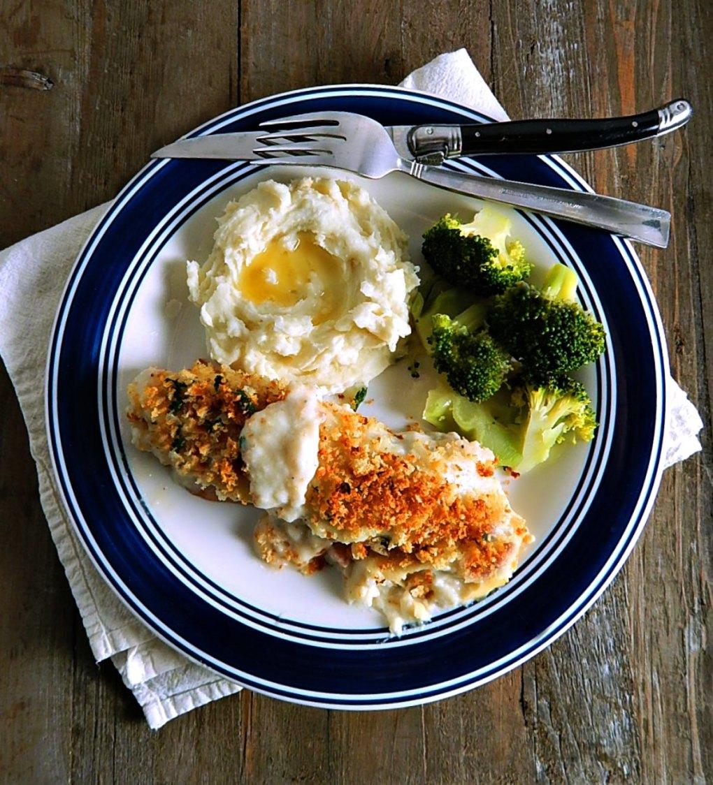 Chicken Cordon Bleu Deconstructed