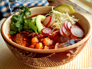 Pozole - Sometimes spelled Posole, a Pork & Hominy Stew made from Slow Cooker Pulled Pork or from scratch.