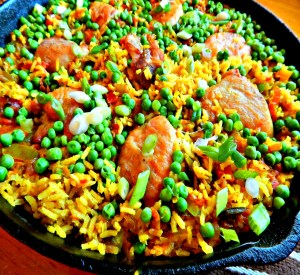 Poor Man's Paella - made with chicken