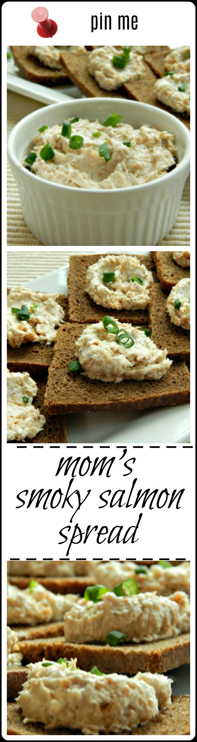 Mom's Smoky Salmon Spread - made with freshly cooked or smoked salmon, or a can of salmon - choose your price range - this is a classic!
