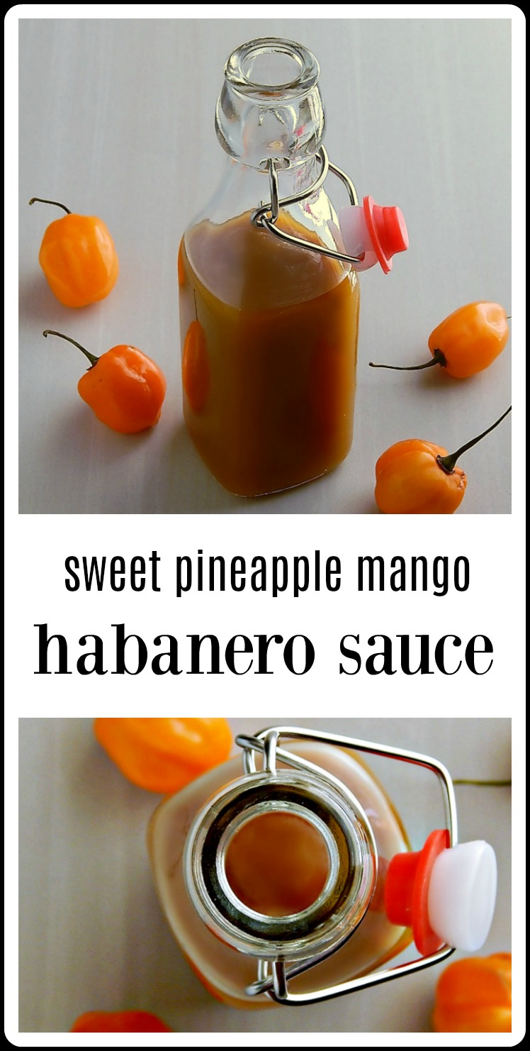 Sweet Pineapple Mango Habanero sauce. Yes, it's sweet at first taste - but wait for it!! This will blow you away!